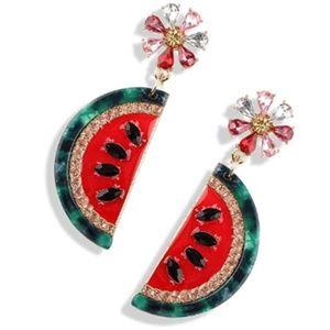 Jewelry - Crystal Watermelon Earrings Vacation Beach Jewelry